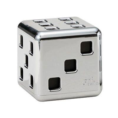 Carmate Sai Chrome Square Cube JDM Car Air Freshener