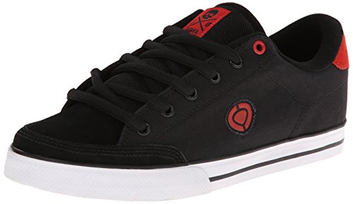 C1RCA Men's AL50-TL Fashion Sneaker,Black/True Red,6.5 M US