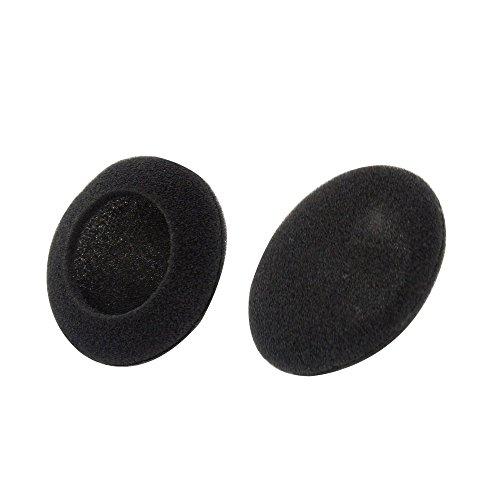 Compatibles E-Shop Ohrpolster für Kopfhörer (Schaumstoff, für Sennheiser PX100 / PMX100 / PMX 60 II / PMX200 / PX200 / PXC150 / PXC250 / MM 60 IP / Sony MDR 410 / Sony MDR-101 / SONY MDR-110LP / Panasonic / Philips / Skype, geeignet für die meisten weiteren Kopfhörer / Headsets), 50 mm, Schwarz, 6 Stück