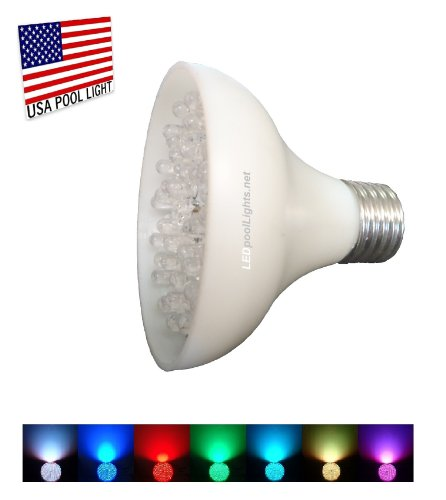 L.E.D. Swimming Pool Or Spa Light Bulb- Color Changing Led Pool Or Spa Light- 12Volts/10Watts