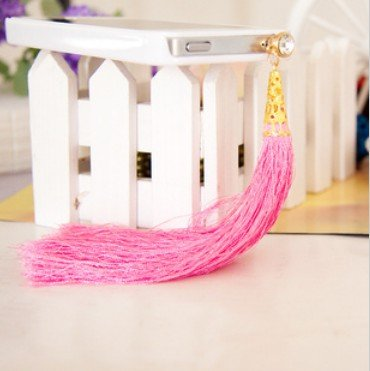 3.5Mm Pink Tassel Anti Dust Antidust Earphone Plug Stopper Cap For Apple Iphone 4 4S 5 Ipad 2 3 4 Mini Ipod Samsung Htc