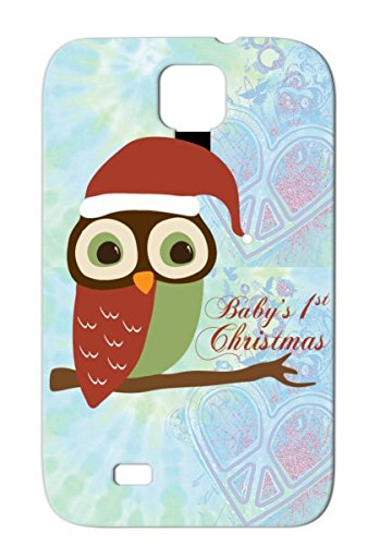 1St Christmas Christmas New Baby Holidays Occasions Owl Santa Babys Red For Sumsang Galaxy S4 Babys Santa Owl Case Cover front-756051