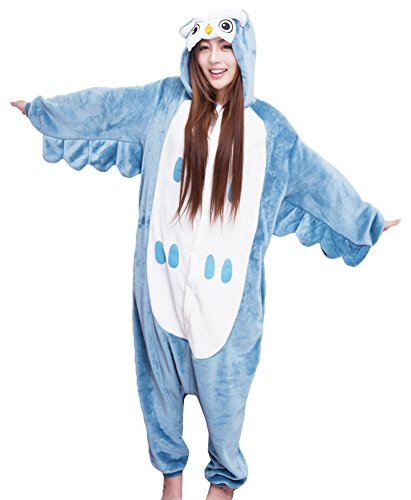 [Men Animal Owl Sleepsuit Kigurumi Cosplay Costume Pajamas Unisex Cartoon Pjs L] (Mens Owl Costumes)