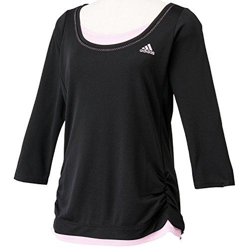 (アディダス)adidas W Essentials レイヤード 7分袖Tシャツ ITT56 M39384 ブラック J/OT