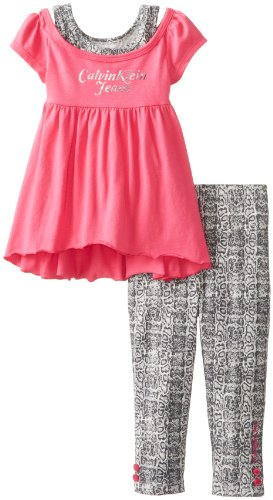 Calvin Klein Baby-Girls Infant Top  Printed Leggings