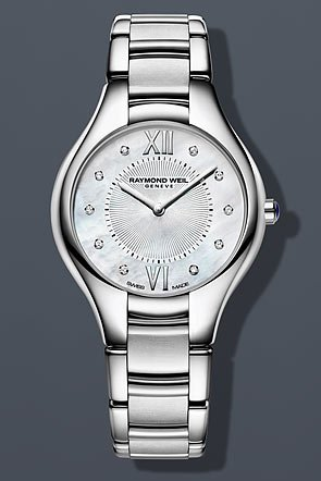 Raymond Weil Noemia Mother of Pearl Diamond Dial Stainless Steel Ladies Watch 5132-ST-00985