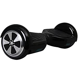 FITURBO F1 Two Wheels Smart Self Balancing Scooters Electric Drifting Board Personal Adult Transporter with LED Light, Black