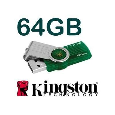 Kingston DataTraveler DT101 G2 64GB USB 2.0 Pen Drive (Green)