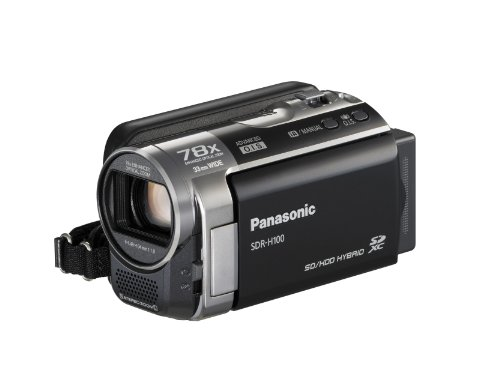 Panasonic SDR-H100K Std-Def Camcorder with 78x Ultra Zoom & 80GB HDD (Black)