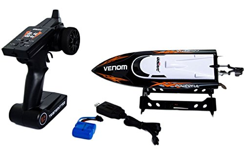 Udirc 2.4GHz High Speed Remote Control Electric Boat (Black) (Radio Control Boat compare prices)