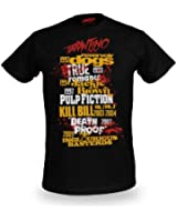 Tarantino XX - T-Shirt Best Of Quentin Tarantino - Reservoir Dogs, Kill Bill, Pulp Fiction - Noir