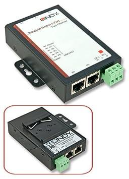 Lindy 25072 Switch avec 5 ports 10/100Mbit/s en montage à plat ou sur rail