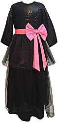 My Pink Closet Girls' 5-6 Years Frock (1A_5-6 Years_Black)