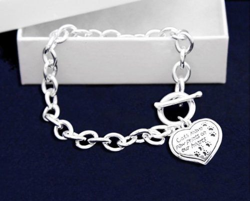 Cats Leave Paw Prints Bracelet (18 Bracelets)