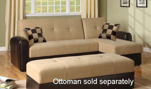 Adjustable Sectional Sofa Bed With Storage Chaise