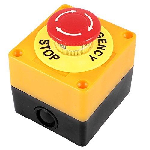 AC 660V 10Aプラスチックシェル赤サイン非常停止プッシュボタンスイッチ