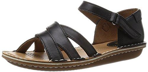 ClarksTustin Sahara - Sandali  donna , Nero (Nero (Black Leather)), 38 EU
