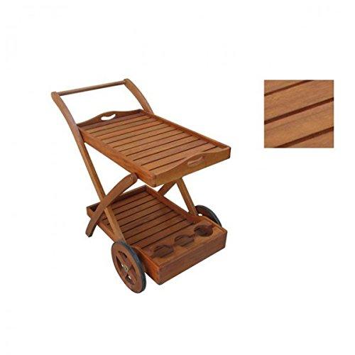 Massiver Teewagen Servierwagen Holz Gartenmöbel Eukalyptus FSC günstig kaufen