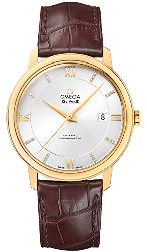 Omega Deville Co-Axial Automatic Silver Dial Brown Leather Mens Watch 42453402052001 (Omega Gold Deville compare prices)