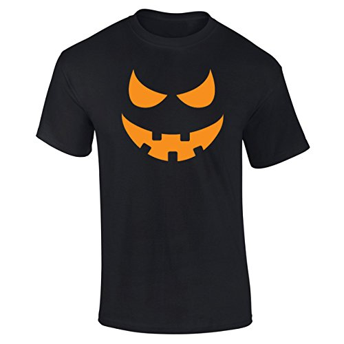 Mens Pumpkin Face Scary Halloween Costume T-shirt