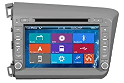 See Crusade Car DVD Player for Honda Civic 2012 2013 2014 Support 3g,1080p,iphone 6s/5s,external Mic,usb/sd/gps/fm/am Radio 8 Inch Hd Touch Screen Stereo Navigation System+ Reverse Car Rear Camara + Free Map Details