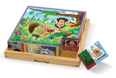 Melissa & Doug Old Testament Bible Stories Wooden Cube Puzzle - 6 Puzzles in 1 (16 pcs)