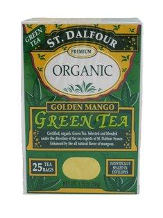 St. Dalfour Premium Organic Green Tea (Golden Mango) (3 X 1.75 Oz)