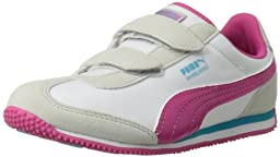 PUMA Whirlwind V Sneaker (Toddler/Little Kid) , Glacier Gray/White/Beetroot Purple/Blue Atoll, 8 M US Toddler