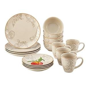 Paula Deen 58637 Orchard Harvest Stoneware Dinnerware Set - 16 Piece