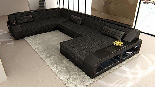 Xxl Stoff Sofa Mega Wohnlandschaft Matera U Form Stoffsofa