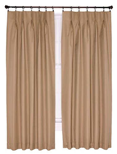 Ellis Curtain Crosby Thermal Insulated 144 By 84 Inch Pinch Pleated Foamback Curtains Linen