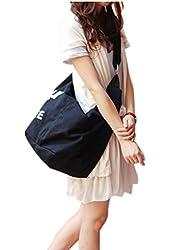 women canavas rabari Monogram print sliing zip pouch black bucket tote hobo bag