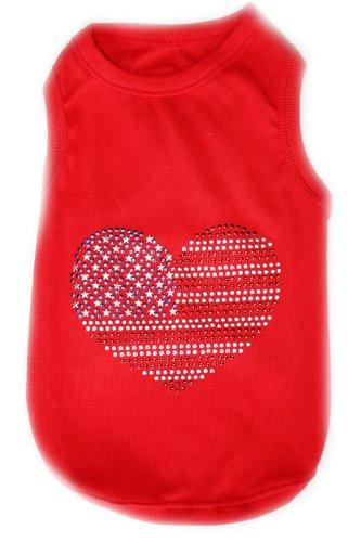 USA FLAG Dog T-Shirt - Medium
