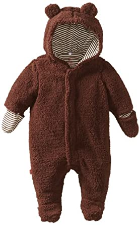 Magnificent Baby Unisex-Baby Infant Hooded Bear Pram, Mocha, 3 Months