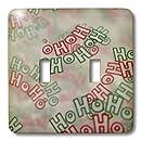 3dRose lsp_33144_2  Ho Ho Ho Double Toggle Switch