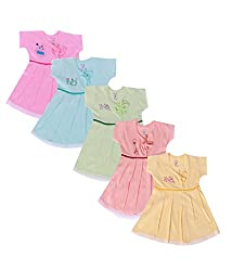 Jo Kids Wear Baby Girls Frock Set(0 - 3 Months)