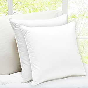 "Story@Home Solid 2 Piece Microfibre Cushion Set - 16""x16"", Set Of 1"
