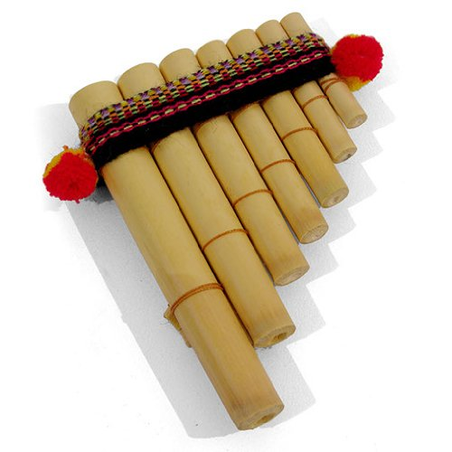 Easy to Use Antara Mini Peruvian Pan Pipes - Percussion Musical Instrument  - Fair Trade -Free Postage