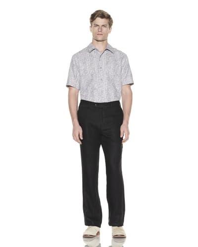 Jhane Barnes Men's Palm Flat Front Pant  [Black]
