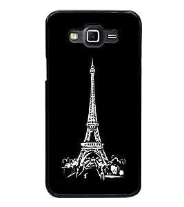 Printvisa Ultra Eiffel Tower 2D Hard Polycarbonate Designer Back Case Cover for Samsung Galax...