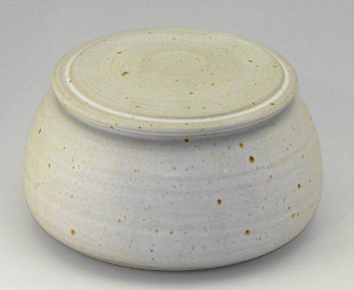 Original französische wassergekühlte keramik butterdose. Weiß matt bauch klein 125g
