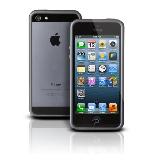 Photive Hybrid Iphone 5 5S Bumper Case - Black. Designed For The New Iphone 5 And Iphone 5S. Updated Lightning Port Cutout
