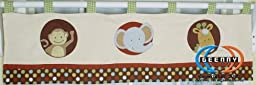GEENNY Window Valance For Boutique Animal Scholar 13 PCS Crib Bedding Set