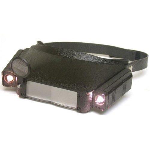SE - Headband Magnifier - LED Illuminated, Dual Acrylic Lens - MH1041LC