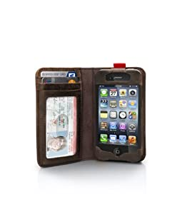 Twelve South BookBook for iPhone 4/4s, brown | Vintage leather iPhone book case and wallet