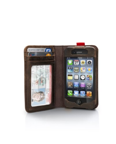 Twelve South BookBook for iPhone 4/4S - Vintage leather iPhone case and wallet (vintage brown)