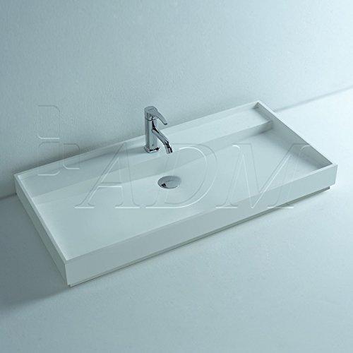 ADM Bathroom Design Matte White Stone Resin Sink DW-184