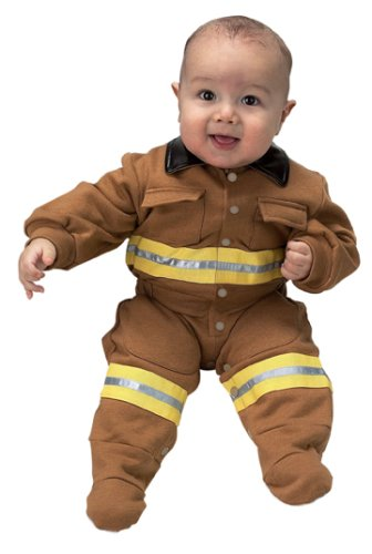 Jr. Fire Fighter Suit, size 6 to 12 Months (tan)