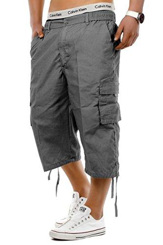 short homme air frais bermuda avec ceinture cargo capri pantalon pantacourt 3 4 vitrines de la. Black Bedroom Furniture Sets. Home Design Ideas