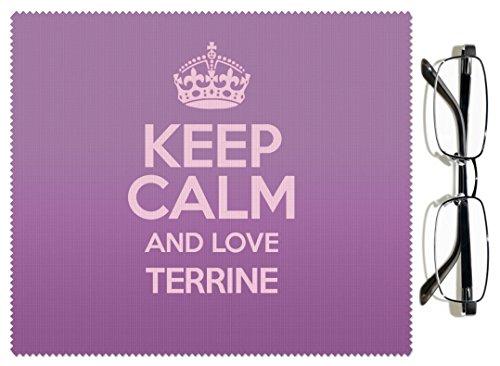 Violet Keep Calm and Love Terrine Chiffon pour lentille couleur 3072